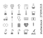 set of science and chemistry... | Shutterstock .eps vector #273591515