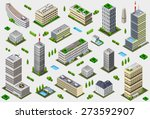 isometric building city palace... | Shutterstock . vector #273592907