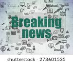 news concept  painted green... | Shutterstock . vector #273601535