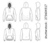 blank men's and women's hoodies ...   Shutterstock .eps vector #273604517