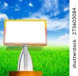 blank billboard on blue sky and ...   Shutterstock . vector #273605084