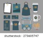 vector coffee bootsh and... | Shutterstock .eps vector #273605747