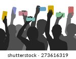 editable vector silhouettes of... | Shutterstock .eps vector #273616319