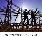 group of the workers on a... | Shutterstock . vector #27361708