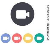 video camera icon | Shutterstock .eps vector #273630191