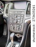 modern car interior with... | Shutterstock . vector #273635261