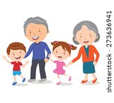grandparents and grandchildren. ... | Shutterstock .eps vector #273636941