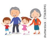 grandparents and grandchildren. ...   Shutterstock .eps vector #273636941