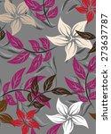vector seamoles pattern flower... | Shutterstock .eps vector #273637787