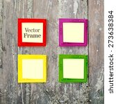 vector set of elegant colorful...   Shutterstock .eps vector #273638384
