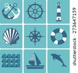 flat icons collection. marine... | Shutterstock . vector #273647159