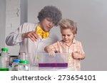 chemistry. chemistry lesson.... | Shutterstock . vector #273654101