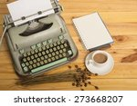 close up of an old typewriter... | Shutterstock . vector #273668207