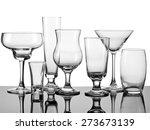set of seven empty cocktail...   Shutterstock . vector #273673139