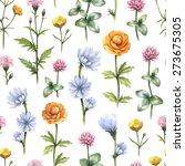 wild flowers illustration.... | Shutterstock . vector #273675305