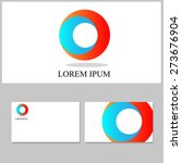 circle and o  icon vector... | Shutterstock .eps vector #273676904