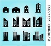 set of silhouette building... | Shutterstock .eps vector #273677999