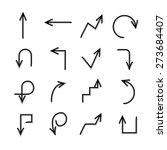 sketch arrows  vector   Shutterstock .eps vector #273684407