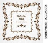 vector decorative frame in... | Shutterstock .eps vector #273690215