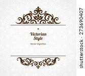vector floral vignette in... | Shutterstock .eps vector #273690407