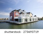 Floating Wooden Houses In The...