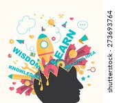 knowledge and creativity icons... | Shutterstock .eps vector #273693764