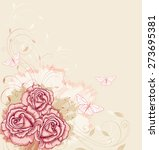 vector decorative  background... | Shutterstock .eps vector #273695381