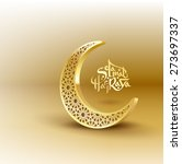 ramadan greetings background.... | Shutterstock .eps vector #273697337
