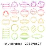 big vector set of line design... | Shutterstock .eps vector #273698627