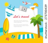 traveler's background with... | Shutterstock .eps vector #273700439