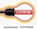 expertise word in lightbulb... | Shutterstock . vector #273704969