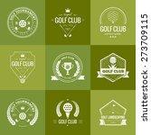 set of golf club logo templates....   Shutterstock .eps vector #273709115