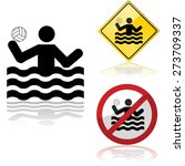 icon set showing signs allowing ... | Shutterstock .eps vector #273709337