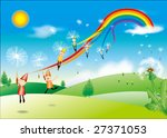 summer theme. | Shutterstock . vector #27371053
