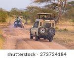 open roof 4x4  safari jeeps on... | Shutterstock . vector #273724184
