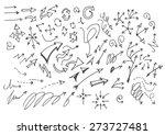 vector hand drawn arrows set...   Shutterstock .eps vector #273727481