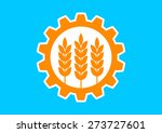 industrial vector icon on blue...   Shutterstock .eps vector #273727601