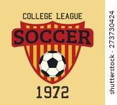 soccer logo typography  t shirt ...   Shutterstock .eps vector #273730424