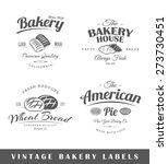 set of bakery labels. elements... | Shutterstock .eps vector #273730451