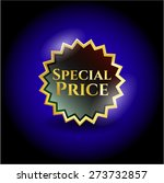 special price gold shiny emblem | Shutterstock .eps vector #273732857