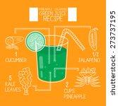 green juice recipes great... | Shutterstock .eps vector #273737195