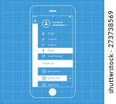 mobile blueprint wireframe ui...