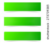 green vector banners with... | Shutterstock .eps vector #273739385