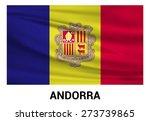 andorra waving flag isolated... | Shutterstock .eps vector #273739865