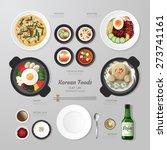 infographic korea foods... | Shutterstock .eps vector #273741161