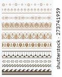 set of vector antique greek... | Shutterstock .eps vector #273741959