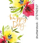 watercolor greeting card... | Shutterstock .eps vector #273742517