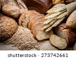 fresh bread  and wheat on the... | Shutterstock . vector #273742661
