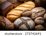 fresh bread  and wheat on the...   Shutterstock . vector #273742691