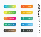 modern banner button with... | Shutterstock .eps vector #273743105